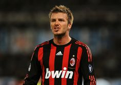 Professional soccer player David Beckham played for Manchester United, Real Madrid, and L.A. Galaxy.