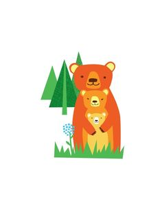 papa mama baby bear by redcruiser on Etsy, $15.00