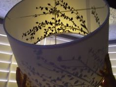 DIY Drum Shade Chandelier - LOVE the use of vinyl decals so freaking much! Diy Drum Shade, Drum Shade Chandelier, I Love Lamp, Home Lighting, Lighting Ideas, Champagne Taste, Lampshades, Light Fixtures, Decorating Ideas