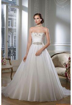 Herz-neck A-linie Bodenlang Schlicht Preiswerte Brautkleider 2014 aus Satin mit Perlenstickerei