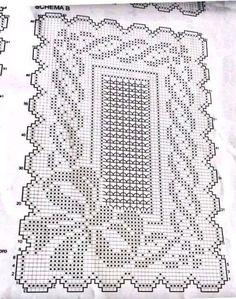 Gráficos de tapete de crochê cada modelo top Crochet Dollies, Crochet Stitches Patterns, Thread Crochet, Crochet Motif, Crochet Yarn, Crochet Carpet, Filet Crochet Charts, Fillet Crochet, Crochet Decoration