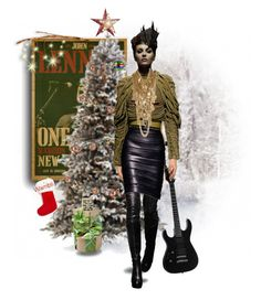 """Wambli Rockin' Around the Christmas Tree"" by wambliwakan ❤ liked on Polyvore featuring arte y Christmas2015"