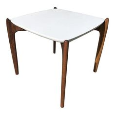 Image of Mid-Century Scultural Walnut Side Table