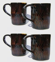 Gorgeous. :: Wild Woodland Porcelain Mugs, 4-Pack by Stuck in the Mud Pottery