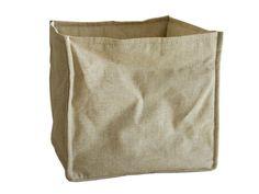 Storage basket, sewn edges and corners.