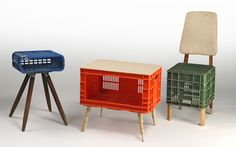 Milk crate furniture