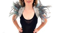 Ruffled Feathers: by fancy VANDALS - teal. Halloween - costume - headpiece - Burning man -festival fashion - by FancyVandals on Etsy https://www.etsy.com/au/listing/470815220/ruffled-feathers-by-fancy-vandals-teal