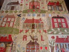 the cottage houses quilt | Photos of Home Sweet Home as promised. This is a Blackbird Design and ...