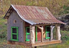 THOM BRUSO'S ARTISTIC BIRDHOUSES - SOLD HOMES - Adirondack Mountain House