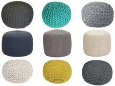ou acheter un pouf tricot ?