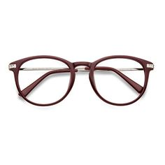 Women's Muse - Red round plastic - 13123 Plastic Rx Eyeglasses ($15) ❤ liked on Polyvore featuring accessories, eyewear, eyeglasses, plastic eye glasses, red glasses, lens glasses, red lens glasses and keyhole glasses