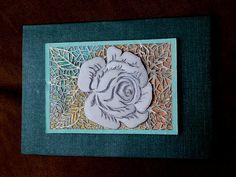 carte en kirigami, la rose.  shanon jeurissen