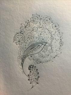 Cool Art Drawings, Pencil Drawings, Drawing Ideas, Islamic Art Pattern, Pattern Art, Jewelry Design Drawing, Illumination Art, Persian Pattern, Font Art