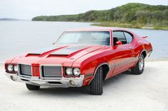 """1972 Oldsmobile 442 """"Betsy"""" 1972 Oldsmobile Betsy was what they called """"Persimmon"""" instead of red. General Motors, My Dream Car, Dream Cars, Vintage Cars, Antique Cars, Automobile, 70s Cars, Oldsmobile Cutlass, Hot Rides"""