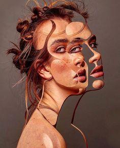 Thomke Meyer Illustration - A Level Art Sketchbook - Distortion Art, A Level Art Sketchbook, Psy Art, Identity Art, Arte Horror, Surreal Art, Surreal Portraits, Art Design, Portrait Art