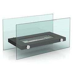 Brixton DF-6502 DIN 4734-1:2011 Standard Fireplace Bio-Ethanol Table with Stainless Steel Burner