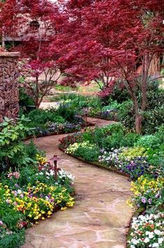 Garden Path.  I love the trees