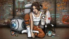Rebel Chell and her Portal Cohorts by AshleyKayley.deviantart.com on @deviantART