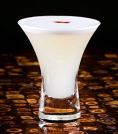 Pisco sour, one of my favorite drinks