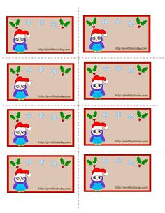 Christmas Owl Christmas Labels Printables