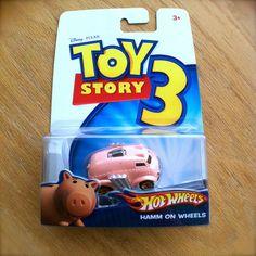 Disney PIXAR Toy Story 3 HAMM ON WHEELS Hot Wheels diecast Mattel piggy bank