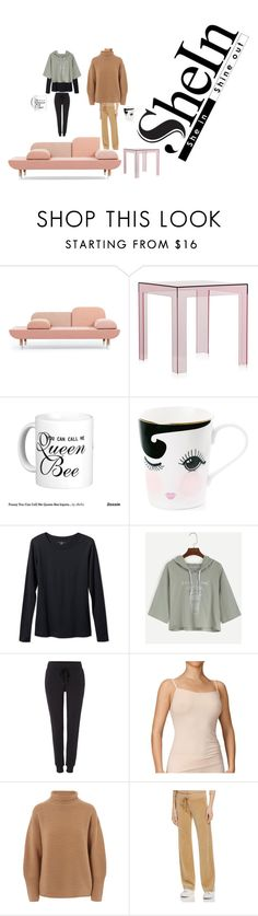 """""""chilling with bff"""" by effyswanhaze on Polyvore featuring moda, Kartell, Queen Bee, L.L.Bean, CALIDA, Folk e sheinhoodietshirtcontest"""
