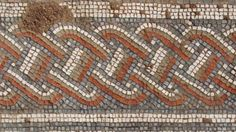 """A Roman street complete with """"spectacular"""" mosaic floors has opened to the public in Leicester. Two building foundations and dozens of pieces of pottery and weapons were unearthed in the excavation, which started in September. Concrete Stepping Stones, Building Foundation, Roman Britain, Genius Loci, Roman History, Roman Art, Ancient Civilizations, Leicester, Roman Empire"""
