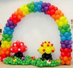 Balloons rainbow arch