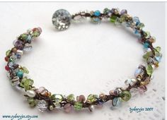 Spring Bloom Hand crocheted bracelet ....made by sydneyjo