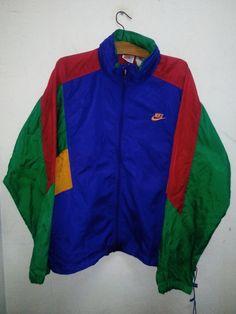 Vintage Multicolor 90 s O.G Nike Windbreaker Tuck Hoodie Jacket Style with  Fabolous 26b535d7a878