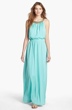 Vince Camuto Embellished Blouson Maxi Dress available at #Nordstrom
