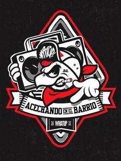Acechando en el Barrio! Street logos