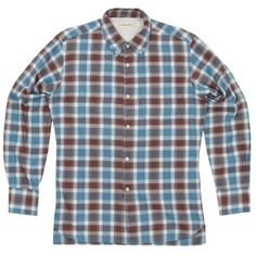 Universal Works 40s Check College Shirt (Blue)
