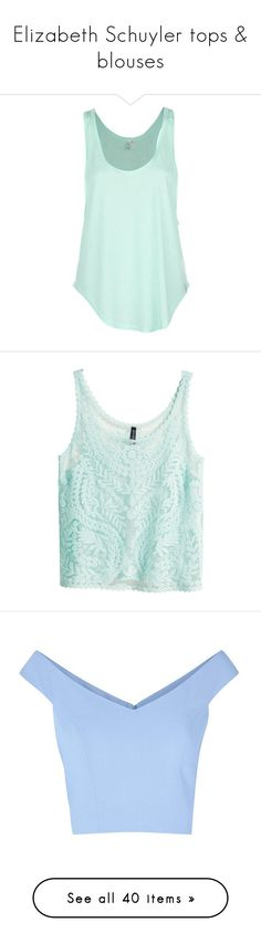 """""""Elizabeth Schuyler tops & blouses"""" by silverbellatrix ❤ liked on Polyvore featuring tops, shirts, tank tops, tanks, blue, shirt top, rip curl tank top, green shirt, rash guard tank top and green top"""
