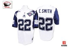 NFL Mitchell And Ness Dallas Cowboys  22 Emmitt Smith White 75th Premier Throwback  Jersey 89.99 2bdccf12f