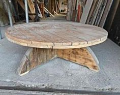 Cable spool table by marcia
