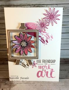 Stampin' Up! Work of Art and Grateful Bunch - Narelle Fasulo - Simply Stamping with Narelle