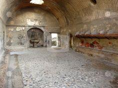 Ancient Rome - Roman baths at the ancient city of Herculaneum,