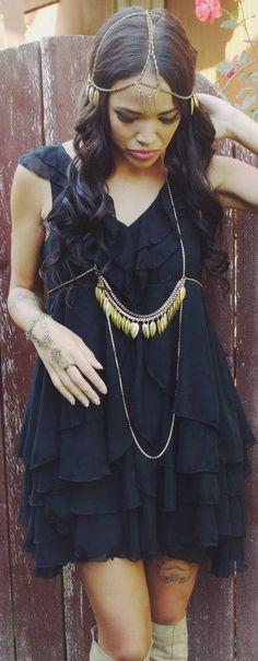 2b735d03969b gold leaf body chain and matching head piece  fashion gypsy bodychain  Indian Photoshoot