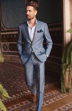Wedding Suits Men Blue Summer Menswear 15 Ideas For 2019 - Groom attire - Summer Wedding Attire, Blue Suit Wedding, Summer Wedding Menswear, Spring Wedding, Wedding Suits For Men, Men Wedding Attire, Casual Wedding Suit, Trendy Wedding, Wedding Dresses