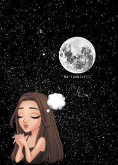 Cute Disney Wallpaper, Girl Wallpaper, Iphone Wallpaper, Ariana Grande Background, Ariana Grande Wallpaper, Girly M, Kawaii, Beautiful Sky, Drawing People