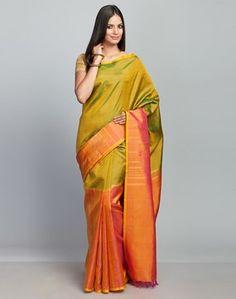 Silk Kanjeevaram Loom Half Sari