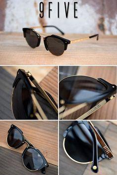 cade3803fb 9FIVE Del Rey Black  amp  24K Gold Sunglasses  mensworkfashion Mens Fashion  Summer Outfits