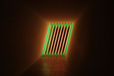 Dan Flavin- untitled (Marfa project), 1996. The Chinati Foundation, Marfa.