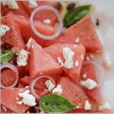 Recipe: Feta, Watermelon, and Mint Salad (Makes 4 servings, about 1 cup each). Check it out: http://www.teambeachbody.com/about/newsletters/-/nli/288?referringRepId=11821#288568853