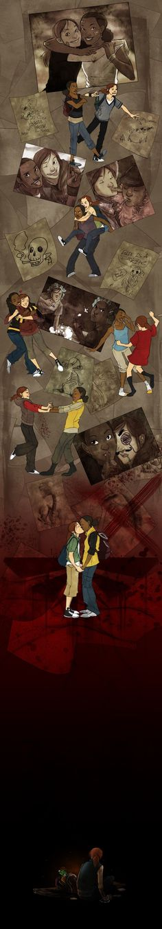 the last of us ellie and riley | Ellie and Riley From The Last of Us Get A Lovely Illustrated Tribute