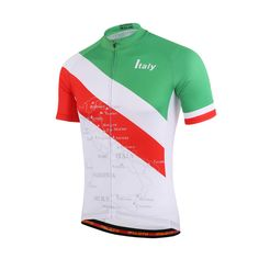 New Italy Short Sleeve Cycling Jerseys Mountain Bike Tops Bicycle Jacket MTB Jersey For Summer S-5XL #Affiliate
