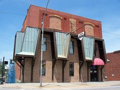 Downtown Arena. Used to house the R.D. Hood Co. Store, and later the Gaslight Inn.