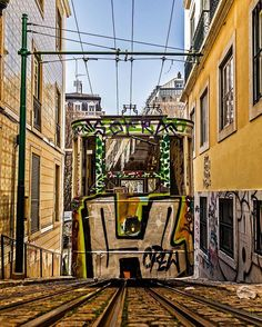 """""""Old tram in the narrow and hilly streets of #Lisbon! So nice! 🇵🇹"""" by (jochemvandeweg). travelgram #citylife #streetphotography #tram #lisboa #lovetotravel #traveldiary #lisbon #abmtravelbug #openmyworld #europe #travel #beautifuldestinations #mytinyatlas #portugal #photography #thelensbible. [Follow us on Twitter at www.twitter.com/MICEFXsolutions for more...]"""