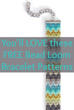 You have to try these 4 FREE bead loom bracelet patterns that involve different styles and beading techniques! #beading #beadloom #diybracelets
